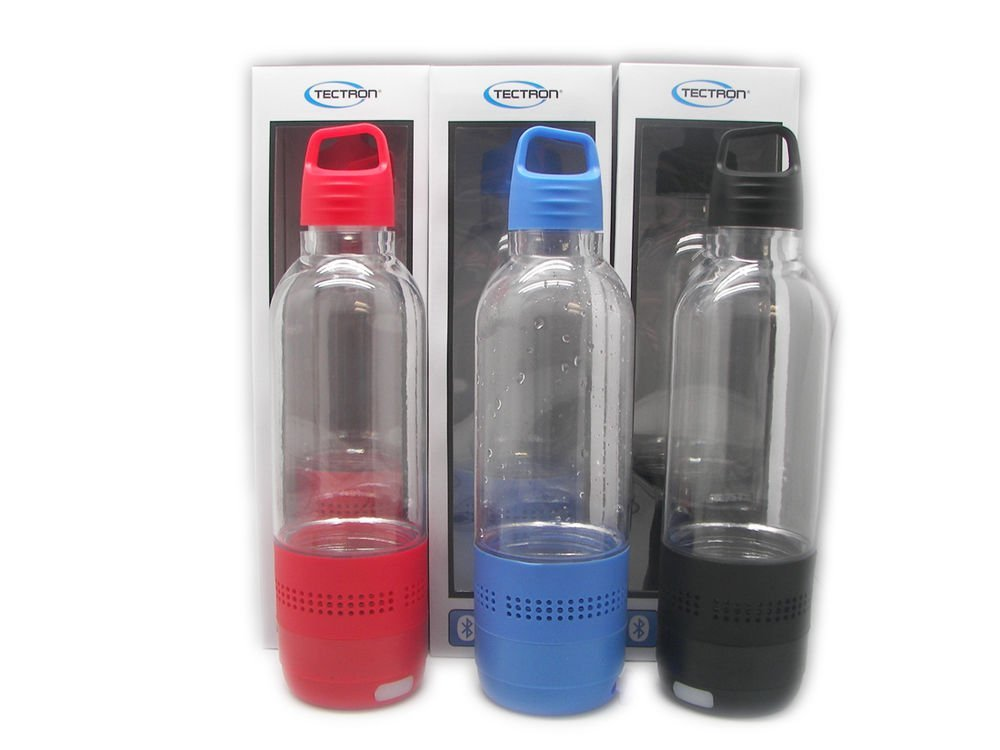 Tectron 2-in-1 Portable Rechargeable Water Bottle + Wireless Bluetooth Speaker MP3 SD