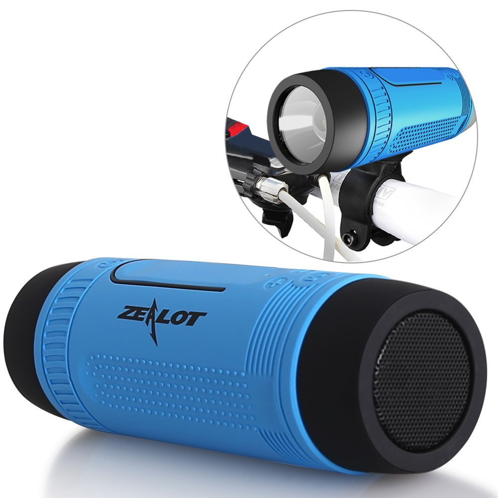 Zealot S1 4000mAh Waterproof Bluetooth Bicycle Power Bank Speaker