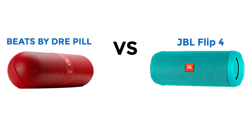 image of Beats By Dre Pill and JBL Flip 4