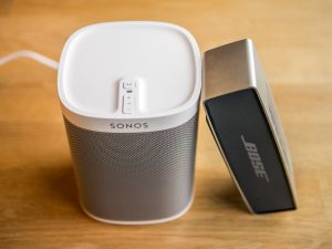 Image of Bose SoundLink Mini and Sonos Play1