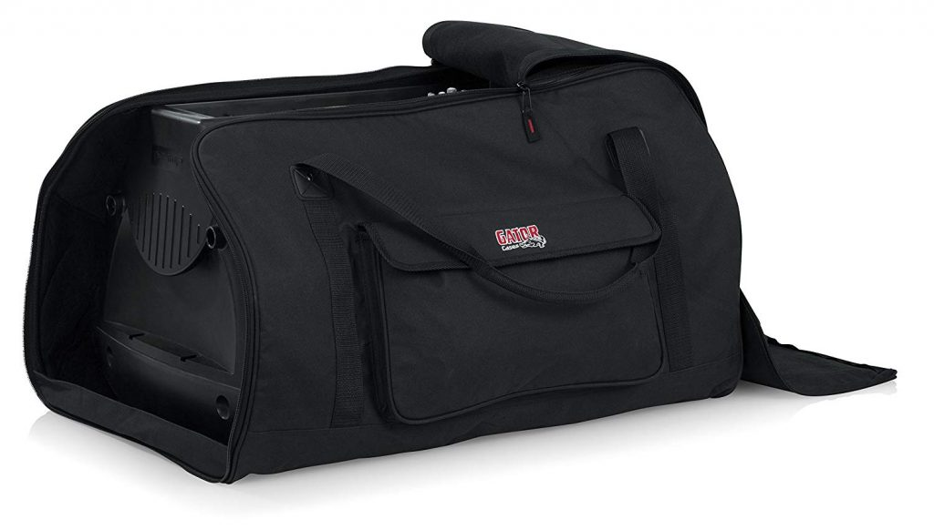 "image of Gator Cases Heavy-Duty Speaker Tote Bag for Compact 15"" Speaker Cabinets; Fits QSC K15, Yamaha DXR15 and more (GPA-TOTE15)"